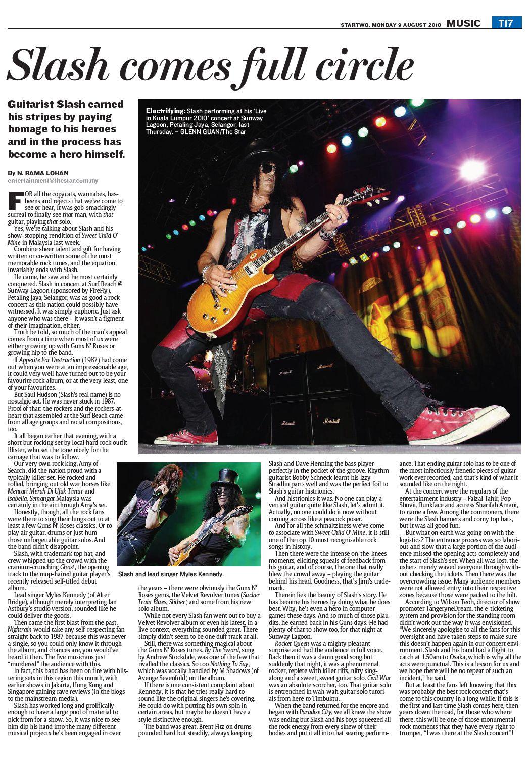 slash concert review